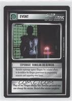 Espionage: Romulan or Klingon