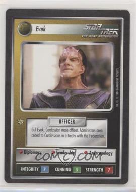 1994 Star Trek Customizable Card Game: 1st Edition Premiere - Black Border Expansion Set [Base] #EVEK - Evek