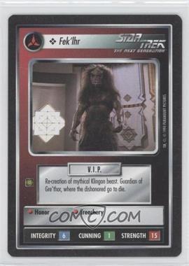 1994 Star Trek Customizable Card Game: 1st Edition Premiere - Black Border Expansion Set [Base] #FEKL - Fek'lhr