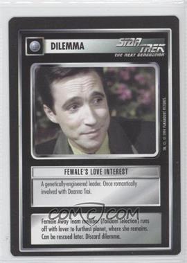 1994 Star Trek Customizable Card Game: 1st Edition Premiere - Black Border Expansion Set [Base] #FLIN - Female's Love Interest