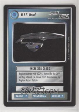 1994 Star Trek Customizable Card Game: 1st Edition Premiere - Black Border Expansion Set [Base] #HOOD - U.S.S. Hood
