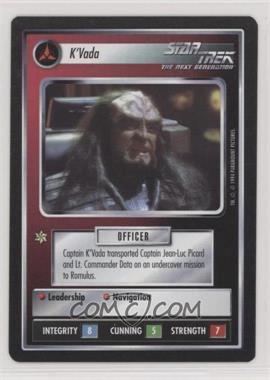 1994 Star Trek Customizable Card Game: 1st Edition Premiere - Black Border Expansion Set [Base] #KVAD - K'Vada