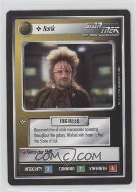1994 Star Trek Customizable Card Game: 1st Edition Premiere - Black Border Expansion Set [Base] #NARI - Narik