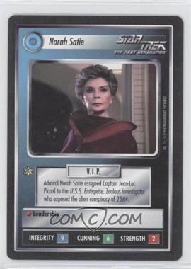 1994 Star Trek Customizable Card Game: 1st Edition Premiere - Black Border Expansion Set [Base] #NOSA - Norah Satie
