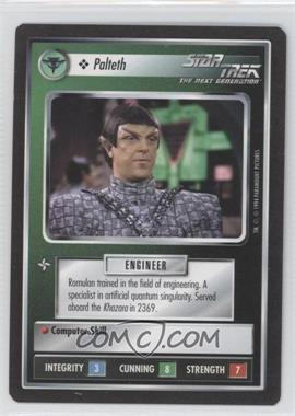1994 Star Trek Customizable Card Game: 1st Edition Premiere - Black Border Expansion Set [Base] #PALT - Palteth