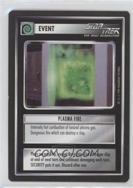 1994 Star Trek Customizable Card Game: 1st Edition Premiere - Black Border Expansion Set [Base] #PLFI - Plasma Fire