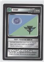 Treaty: Federation Romulan