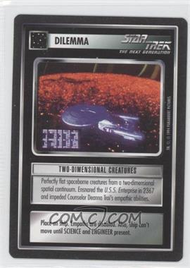1994 Star Trek Customizable Card Game: 1st Edition Premiere - Black Border Expansion Set [Base] #TWCR - Two-Dimensional Creatures