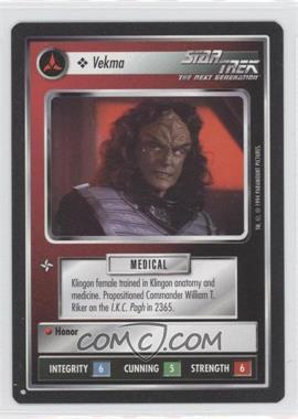 1994 Star Trek Customizable Card Game: 1st Edition Premiere - Black Border Expansion Set [Base] #VEKM - Vekma