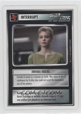 1994 Star Trek Customizable Card Game: 1st Edition Premiere - White Bordered Expansion Set [Base] #AMRO - Amanda Rogers
