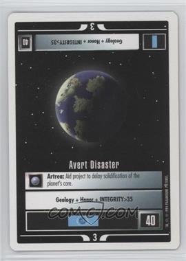 1994 Star Trek Customizable Card Game: 1st Edition Premiere - White Bordered Expansion Set [Base] #AVDI - Avert Disaster