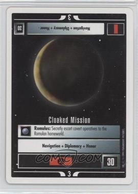 1994 Star Trek Customizable Card Game: 1st Edition Premiere - White Bordered Expansion Set [Base] #CLMI - Cloaked Mission