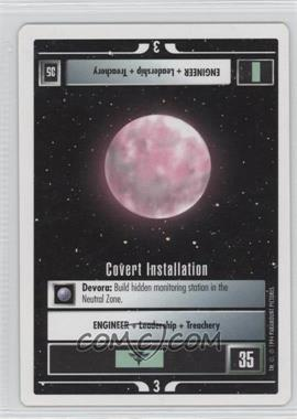 1994 Star Trek Customizable Card Game: 1st Edition Premiere - White Bordered Expansion Set [Base] #COIN - Covert Installation