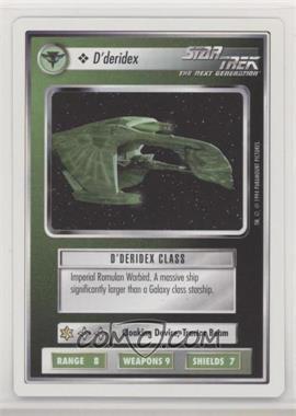 1994 Star Trek Customizable Card Game: 1st Edition Premiere - White Bordered Expansion Set [Base] #DDER - D'deridex