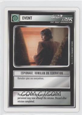 1994 Star Trek Customizable Card Game: 1st Edition Premiere - White Bordered Expansion Set [Base] #ERFE - Espionage: Romulan on Federation