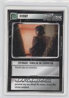 Espionage: Romulan on Federation [Noted]