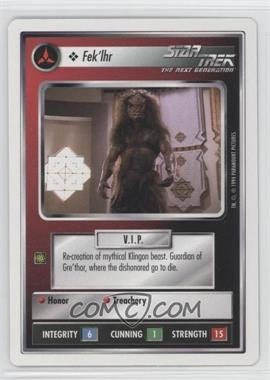 1994 Star Trek Customizable Card Game: 1st Edition Premiere - White Bordered Expansion Set [Base] #FEKL - Fek'lhr