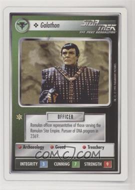1994 Star Trek Customizable Card Game: 1st Edition Premiere - White Bordered Expansion Set [Base] #GALN - Galathon