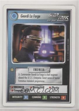 1994 Star Trek Customizable Card Game: 1st Edition Premiere - White Bordered Expansion Set [Base] #GLFO - Geordi La Forge