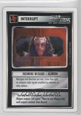 1994 Star Trek Customizable Card Game: 1st Edition Premiere - White Bordered Expansion Set [Base] #IMKL - Incoming Message - Klingon