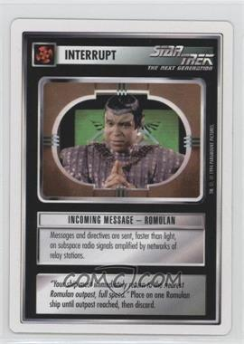 1994 Star Trek Customizable Card Game: 1st Edition Premiere - White Bordered Expansion Set [Base] #IMRO - Incoming Message - Romulan