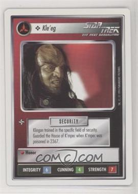 1994 Star Trek Customizable Card Game: 1st Edition Premiere - White Bordered Expansion Set [Base] #KLEE - Kle'eg