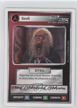 1994 Star Trek Customizable Card Game: 1st Edition Premiere - White Bordered Expansion Set [Base] #KORO - Koroth
