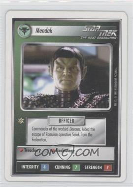 1994 Star Trek Customizable Card Game: 1st Edition Premiere - White Bordered Expansion Set [Base] #MEND - Mendak