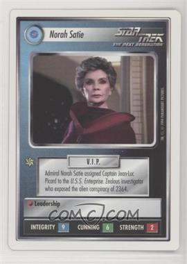 1994 Star Trek Customizable Card Game: 1st Edition Premiere - White Bordered Expansion Set [Base] #NOSA - Norah Satie