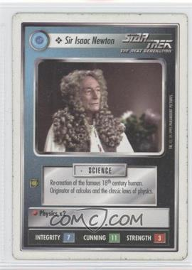 1994 Star Trek Customizable Card Game: 1st Edition Premiere - White Bordered Expansion Set [Base] #SINE - Sir Issac Newton