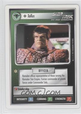 1994 Star Trek Customizable Card Game: 1st Edition Premiere - White Bordered Expansion Set [Base] #TALL - Tallus