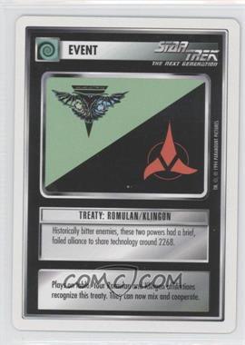 1994 Star Trek Customizable Card Game: 1st Edition Premiere - White Bordered Expansion Set [Base] #TRRK - Treaty: Romulan/Klingon