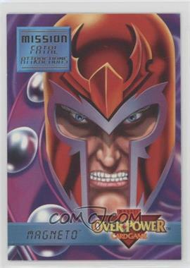 1995 Marvel Overpower Collectible Card Game - Mission: Fatal Attractions #4 - Magneto