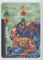 Magneto, Juggernaut, Sabretooth (Green Background)