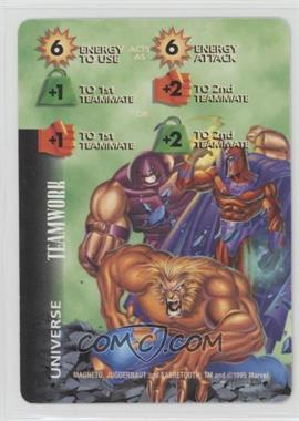 1995 Marvel Overpower Collectible Card Game - Universe Cards [Base] #NoN - Magneto, Juggernaut, Sabretooth (Green Background)
