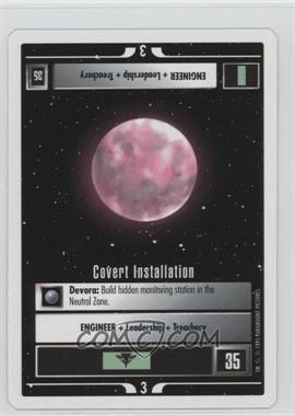 1995 Star Trek Customizable Card Game: 1st Edition Premiere - White Bordered Expansion Set [Base] - 2nd Printing #COIN - Covert Installation