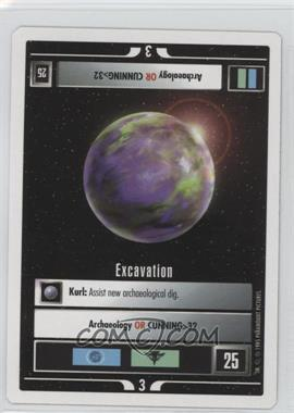 1995 Star Trek Customizable Card Game: 1st Edition Premiere - White Bordered Expansion Set [Base] - 2nd Printing #EXCA - Excavation