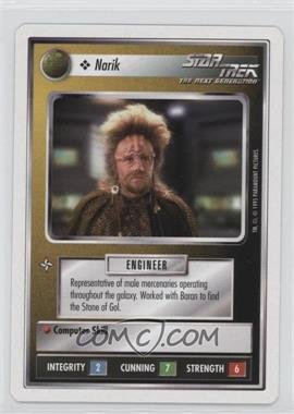 1995 Star Trek Customizable Card Game: 1st Edition Premiere - White Bordered Expansion Set [Base] - 2nd Printing #NARI - Narik