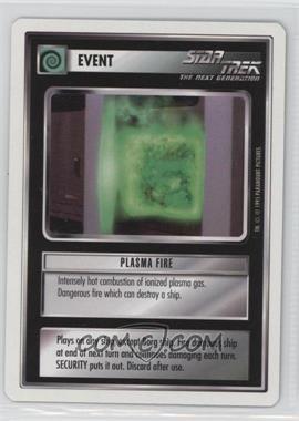 1995 Star Trek Customizable Card Game: 1st Edition Premiere - White Bordered Expansion Set [Base] - 2nd Printing #PLFI - Plasma Fire
