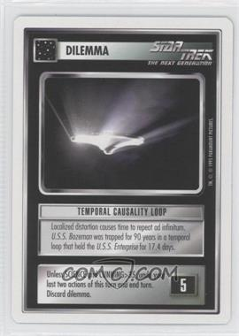 1995 Star Trek Customizable Card Game: 1st Edition Premiere - White Bordered Expansion Set [Base] - 2nd Printing #TCLO - Temporal Causality Loop