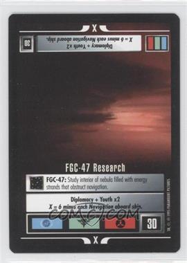 1995 Star Trek Customizable Card Game: Alternate Universe - Expansion Set [Base] #NoN - FGC-47 Research