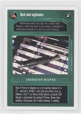 1995 Star Wars Customizable Card Game: Premiere - Expansion Set [Base] - Unlimited White Border #NoN - Dark Jedi Lightsaber