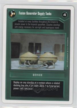 1995 Star Wars Customizable Card Game: Premiere - Expansion Set [Base] - Unlimited White Border #NoN - Fusion Generator Supply Tanks