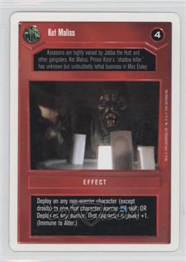 1995 Star Wars Customizable Card Game: Premiere - Expansion Set [Base] - Unlimited White Border #NoN - Ket Maliss