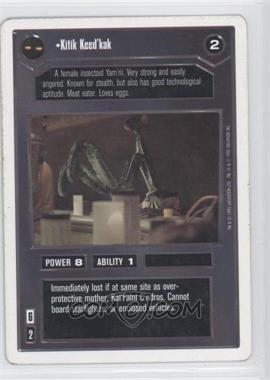1995 Star Wars Customizable Card Game: Premiere - Expansion Set [Base] - Unlimited White Border #NoN - Kitik Keed'kak