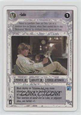 1995 Star Wars Customizable Card Game: Premiere - Expansion Set [Base] - Unlimited White Border #NoN - Luke
