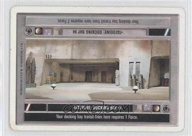 1995 Star Wars Customizable Card Game: Premiere - Expansion Set [Base] - Unlimited White Border #NoN - Tatooine: Docking Bay 94 (Dark)
