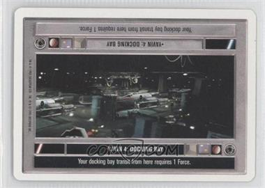 1995 Star Wars Customizable Card Game: Premiere - Expansion Set [Base] - Unlimited White Border #NoN - Yavin 4: Docking Bay