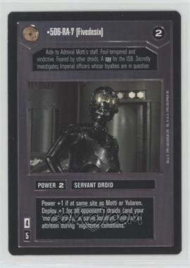 1995 Star Wars Customizable Card Game: Premiere - Expansion Set [Base] #5RA7 - 5D6-RA-7 [Fivedesix]