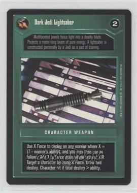 1995 Star Wars Customizable Card Game: Premiere - Expansion Set [Base] #DJLI - Dark Jedi Lightsaber